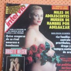 Coleccionismo de Revista Interviú: INTERVIÚ Nº 883. BRIGITTE NIELSEN (PORTADA)A LA ESPERA, TODA UNA MADRAZA. Lote 158818406