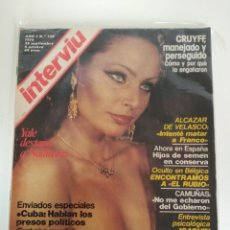 Coleccionismo de Revista Interviú: REVISTA INTERVIÚ Nº124, NADIUSKA, CRUYFF, CUBA. Lote 158911114