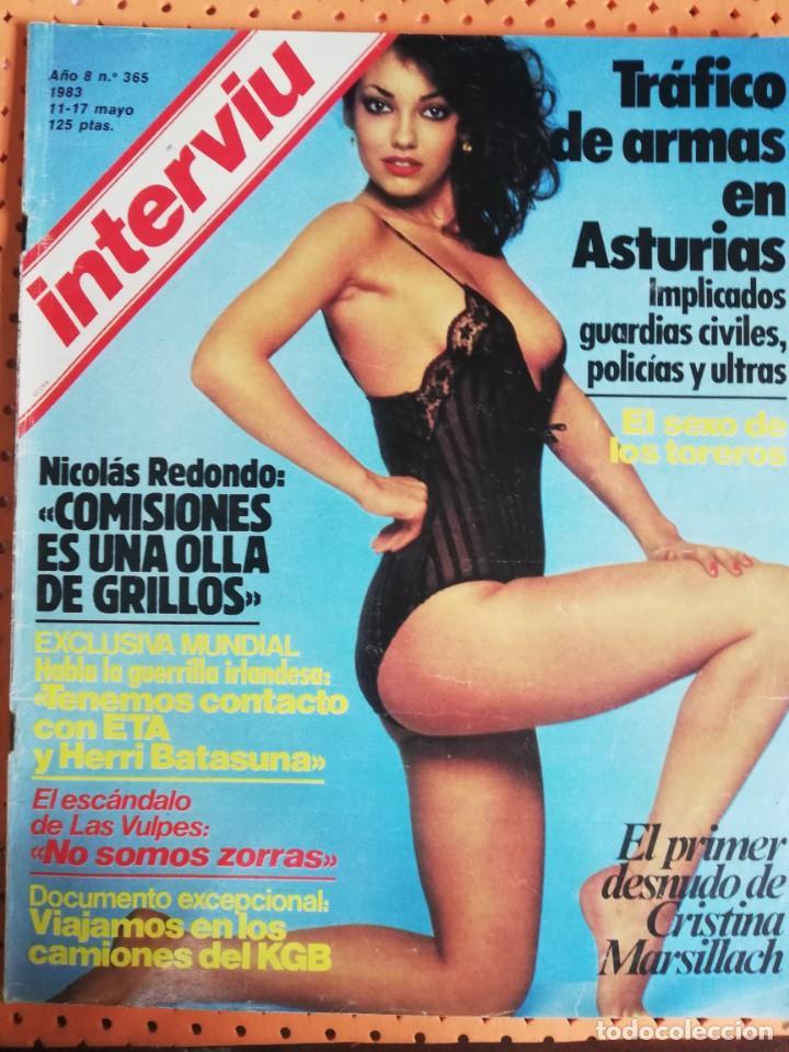 Interviú Nº 365 El Primer Desnudo De Cristina Marsillach El Escándalo De Las Vulpes