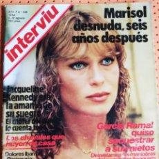 Coleccionismo de Revista Interviú: INTERVIÚ Nº 325. MARISOL (PORTADA) DESNUDA , SEIS AÑOS DESPUÉS. Lote 159230098