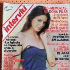Coleccionismo de Revista Interviú: INTERVIÚ Nº 230. LOLA FORNER (PORTADA), PRIMER DESNUDO DE MISS ESPAÑA. Lote 159231114