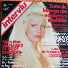 Coleccionismo de Revista Interviú: INTERVIÚ Nº 307. PATTY PRAVO (PORTADA) BRAVÍSIMA. INCLUYE TIEMPO DE HOY Nº 45. Lote 159370350