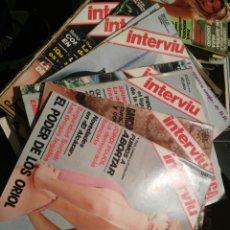 Coleccionismo de Revista Interviú: REVISTAS INTERVIU 11 REVISTAS DE 1976. Lote 159730918