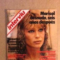 Coleccionismo de Revista Interviú: INTERVIU N° 325 (1982). MARISOL DESNUDA 6 AÑOS DESPUÉS, DOLORES IBARRURI FEMINISMO, GUERRA IRÁN-IRAK. Lote 160758732