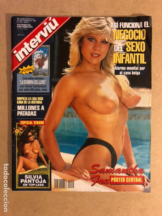 Interviu N 1061 1996 Samantha Fox Poster Central Desplegable Top Less Silvia Pantoja Y María