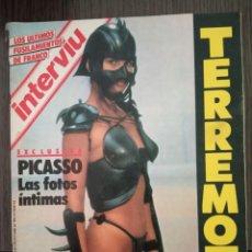 Coleccionismo de Revista Interviú: REVISTA INTERVIU Nº 489 AÑO 1985. SANDRA EL PLACER DE LA PIEL. PICASSO LAS FOTOS MAS INTIMAS.. Lote 160937834