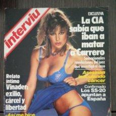 Coleccionismo de Revista Interviú: REVISTA INTERVIU Nº 411 AÑO 1984. CHICAS: FINA Y LOS TRASLADOS. Lote 161033322