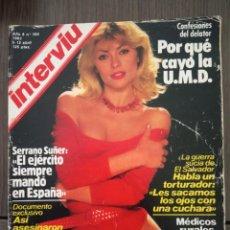 Coleccionismo de Revista Interviú: REVISTA INTERVIÚ NUM. 360 AÑO 1983.-POR QUÉ CAYÓ LA U.M.D.-SERRANO SUÑER-XUXA. Lote 190428741