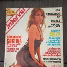 Coleccionismo de Revista Interviú: INTERVIÚ Nº 423. EXCLUSIVA COLZA: UNA NIÑA ESCRIBE EL DIARIO DE SU AGONÍA. Lote 161034706