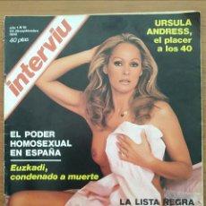 Coleccionismo de Revista Interviú: REVISTA INTERVIU N° 19 1976 URSULA ANDRESS, CRUS MARTÍNEZ ESTERUELAS, VAMPIROS. Lote 163835622