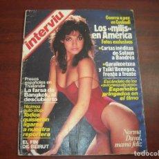 Coleccionismo de Revista Interviú: REVISTA INTERVIU AÑO 1984- Nº 408 - NORMA DUVAL- TRAGEDIA BENIDORM. Lote 165322026