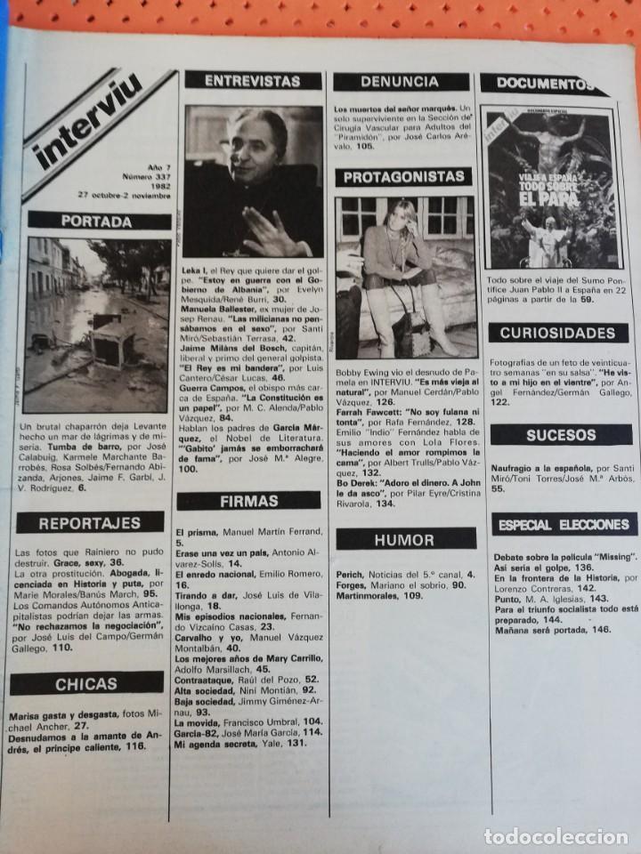 Coleccionismo de Revista Interviú: INTERVIÚ Nº 337. DESNUDAMOS A LA AMANTE DEL PRÍNCIPE ANDRÉS. GRACE KELLY. BO DEREK - Foto 2 - 165632606