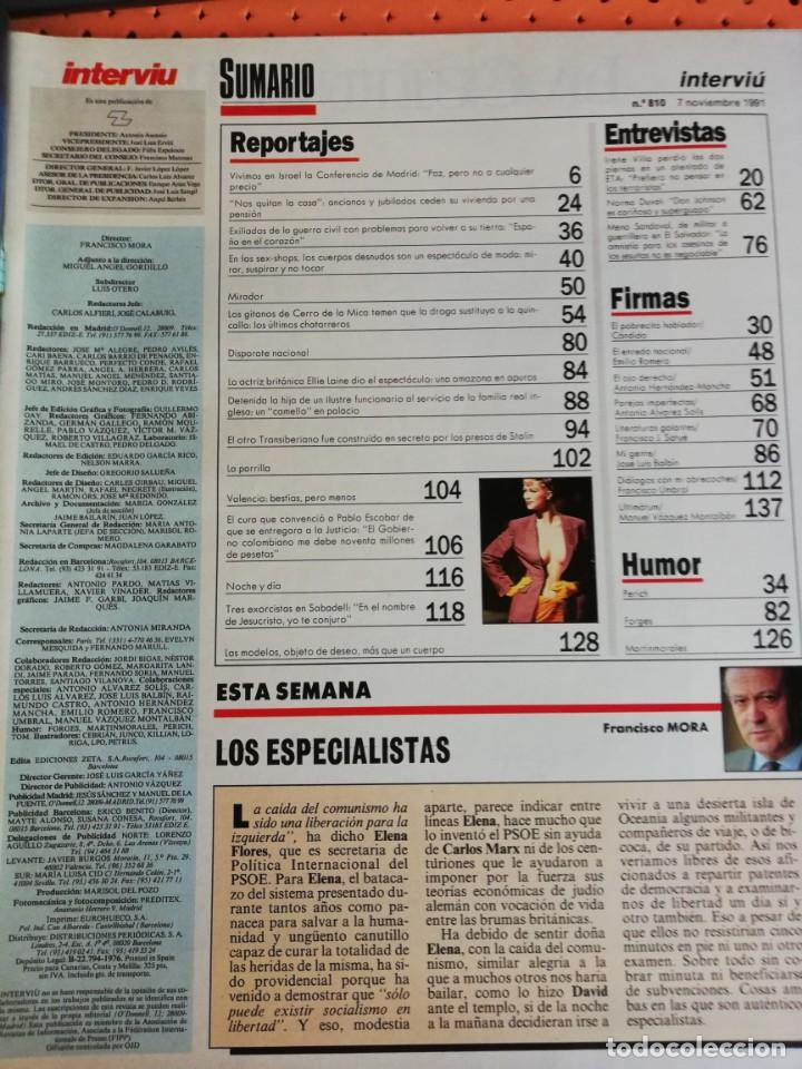 Coleccionismo de Revista Interviú: INTERVIÚ Nº 810. EROSTISMO: LAS MEJORES MODELOS DEL MUNDO SE DESTAPAN EN LA PASARELA. NORMA DUVAL - Foto 2 - 165645318
