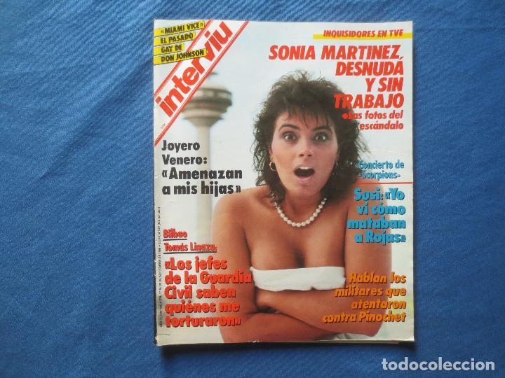 Interviú Nº 540 Año 11 1986 Ejemplar Raro Caro Y Difícil De Conseguir Sonia Martinez Desnuda