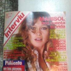 Coleccionismo de Revista Interviú: REVISTA INTERVIÚ AÑO 1979 REPOR MARISOL. Lote 166043106