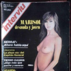 Coleccionismo de Revista Interviú: REVISTA INTERVIÚ Nº 16 AÑO 1 - 2 SEPTIEMBRE 1976 - MARISOL - 1ª EDICIÓN ORIGINAL. Lote 168281196