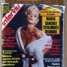 Coleccionismo de Revista Interviú: REVISTA INTERVIU Nº 788 AÑO 1991. PORTADA: MARTA SANCHEZ TOTALMENTE DESNUDA CARLA DUVAL. Lote 168341760