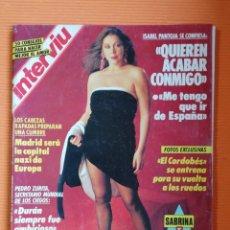 Coleccionismo de Revista Interviú: INTERVIÚ Nº 811. ISABEL PANTOJA (PORTADA). SABRINA/ÁNGELA CAVAGNA PECHOS EN LITIGIO. Lote 169182541