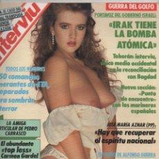 Coleccionismo de Revista Interviú: INTERVIÚ Nº 750 SEPTIEMBRE 1990 GUERRA DEL GOLFO, EL PALMAR DE TROYA, JOSÉ MARÍA AZNAR, ETC. Lote 170311760