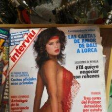 Coleccionismo de Revista Interviú: INTERVIU Nº 616: LAS CARTAS DE AMOR DE DALI A LORCA. ROMINA DANIELSON. JAVIER GURRUCHAGA. PILAR MIR. Lote 170387660