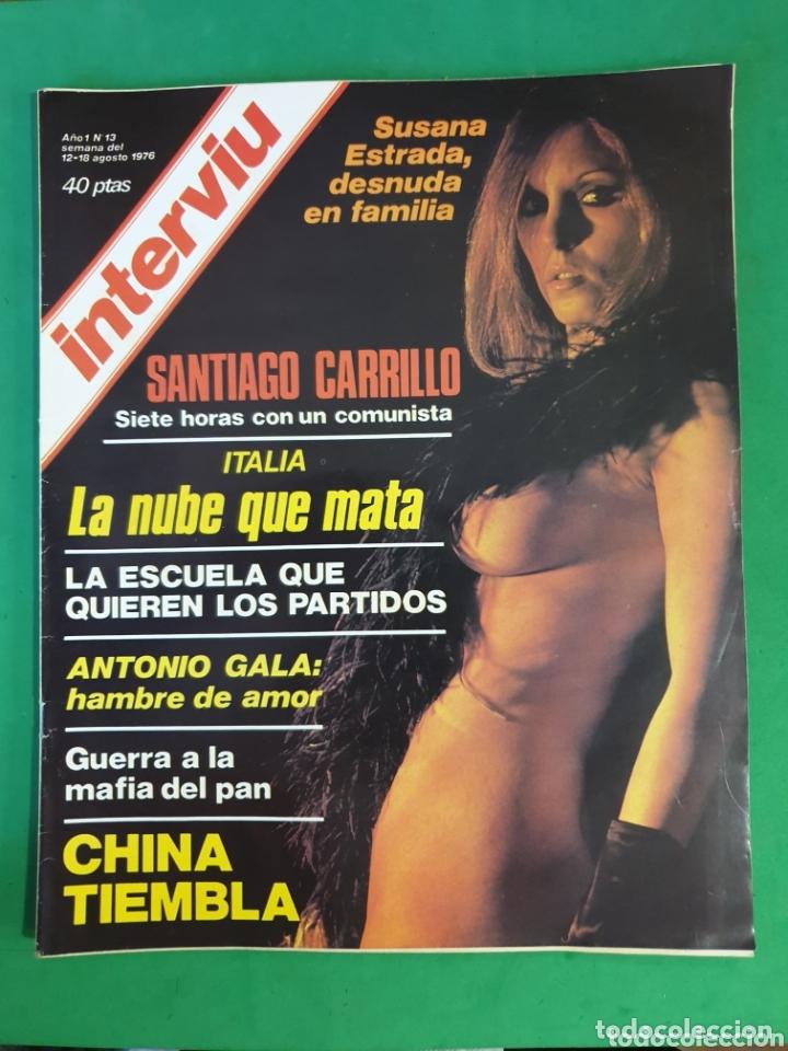 REVISTA INTERVIU. 1976. NÚMERO 13. SUSANA ESTRADA (Coleccionismo - Revistas y Periódicos Modernos (a partir de 1.940) - Revista Interviú)