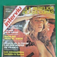 Coleccionismo de Revista Interviú: REVISTA INTERVIU. 1976. NÚMERO 14. LA REBELIÓN DE LOS CURAS.. Lote 173405565