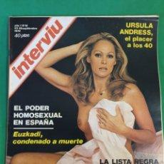 Coleccionismo de Revista Interviú: REVISTA INTERVIU. 1976. NÚMERO 19. ÚRSULA ANDRESS. Lote 173406649