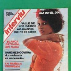 Coleccionismo de Revista Interviú: INTERVIU. 1976. NUMERO 28. BLANCA ESTRADA.. Lote 173408470
