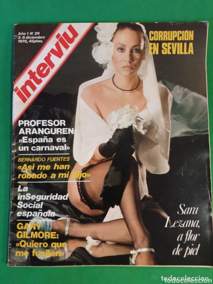 INTERVIU. 1976. NÚMERO 29. SARA LEZAMA. (Coleccionismo - Revistas y Periódicos Modernos (a partir de 1.940) - Revista Interviú)