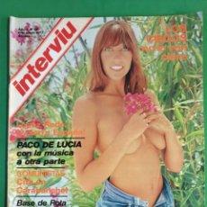 Coleccionismo de Revista Interviú: INTERVIU. 1977. NÚMERO 34. ÁNGELA MOLINA. Lote 173417230