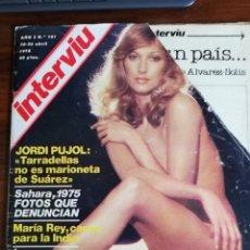 Coleccionismo de Revista Interviú: INTERVIÚ Nº 101. MARÍA REY. LAS AMANTES DE KENNEDY. JORDI PUJOL. SPAGGIARI. Lote 173455692