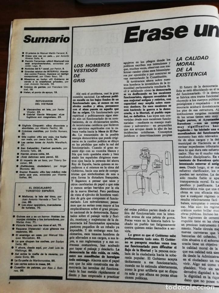Coleccionismo de Revista Interviú: INTERVIÚ Nº 175. VICTORIA VERA. TAMAMES. LO QUE CHUPAN LOS COCHES. INCLUYE SUPL. SAL Y PIMIENTA - Foto 2 - 173926890