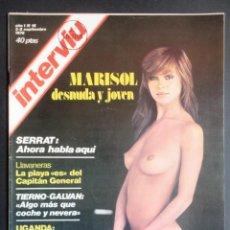 Coleccionismo de Revista Interviú: REVISTA INTERVIU Nº 16, 2-8 SEPTIEMBRE-1976. MARISOL DESNUDA Y JOVEN. 2ª EDICIÓN. Lote 175778005
