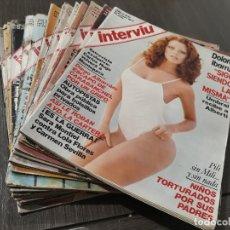 Coleccionismo de Revista Interviú: LOTE DE 17 REVISTAS INTERVIÚ DEL AÑO 2 - AÑO 1977 (VER DESCRIPCIÓN). Lote 175817498