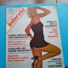 Coleccionismo de Revista Interviú: INTERVIU .AÑO 1 N° 9.BB CAZADA EN SU MADRIGUERA 7 PÁG ,6 EN COLOR.CATALUÑA NO PUEDE MARCHAR.. Lote 176289142