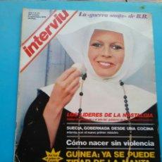 Coleccionismo de Revista Interviú: INTERVIU 1976 .AÑO 1 N° 24 . LA GUERRA SANTA DE BB. CASINO D PARÍS . GUINEA : TIRAR D LA MANTA .. Lote 176295417