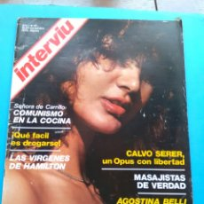 Coleccionismo de Revista Interviú: INTERVIU 1976 AÑO 1 N ° 27 .AGOSTINA BELLI . CARTA A FRANCO .SEÑORA DE CARRILLO .. Lote 176296293