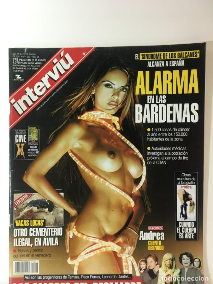 REVISTA INTERVIÚ NÚMERO 1290 ANDREA (Coleccionismo - Revistas y Periódicos Modernos (a partir de 1.940) - Revista Interviú)