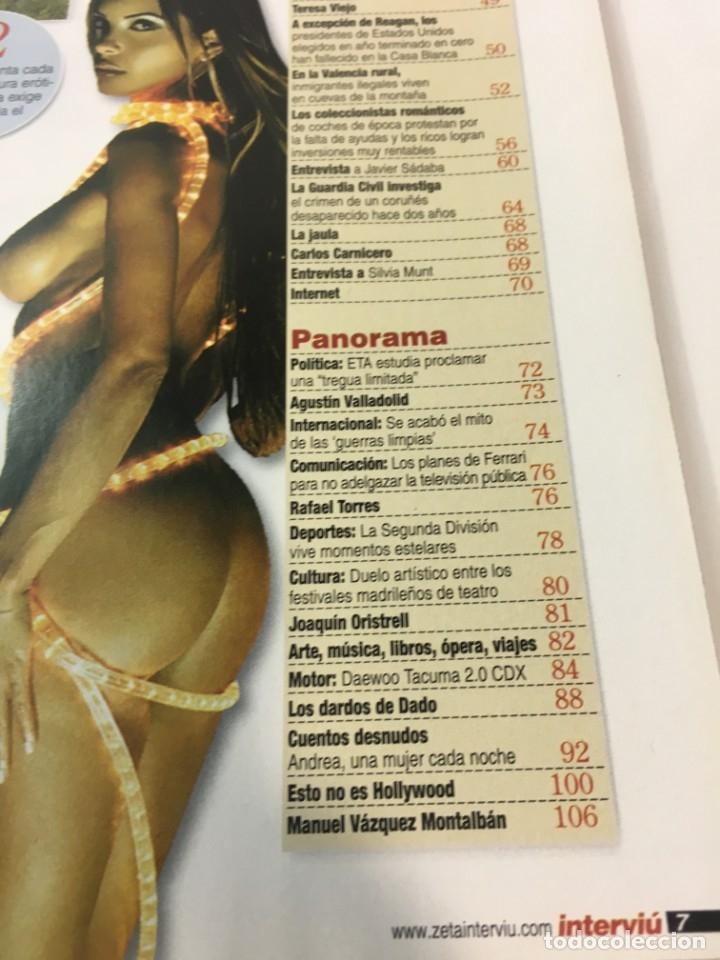 Coleccionismo de Revista Interviú: Revista Interviú número 1290 Andrea - Foto 4 - 176307839