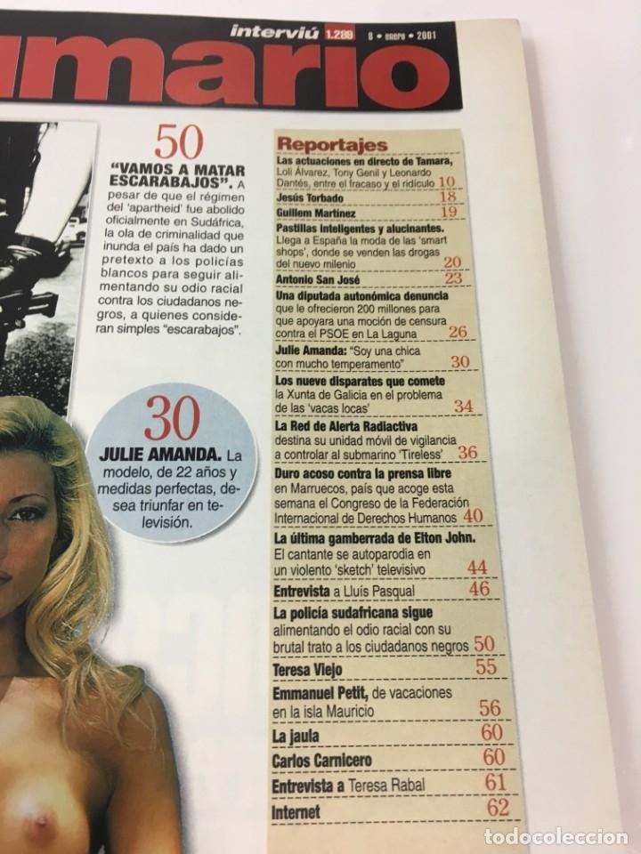 Coleccionismo de Revista Interviú: Revista Interviú número 1289 Julie Amanda, Elton John, - Foto 4 - 176313779