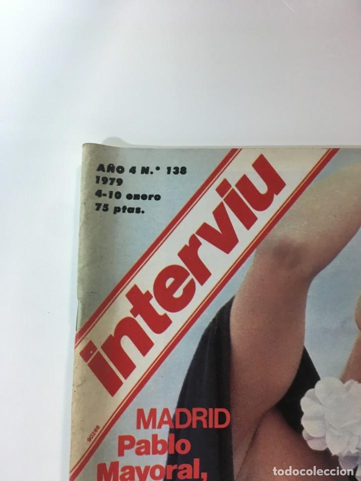 Coleccionismo de Revista Interviú: Revista Interviú número 138 año 4 Natalia,1979, años 70.Publicidad años 70 - Foto 2 - 176314174