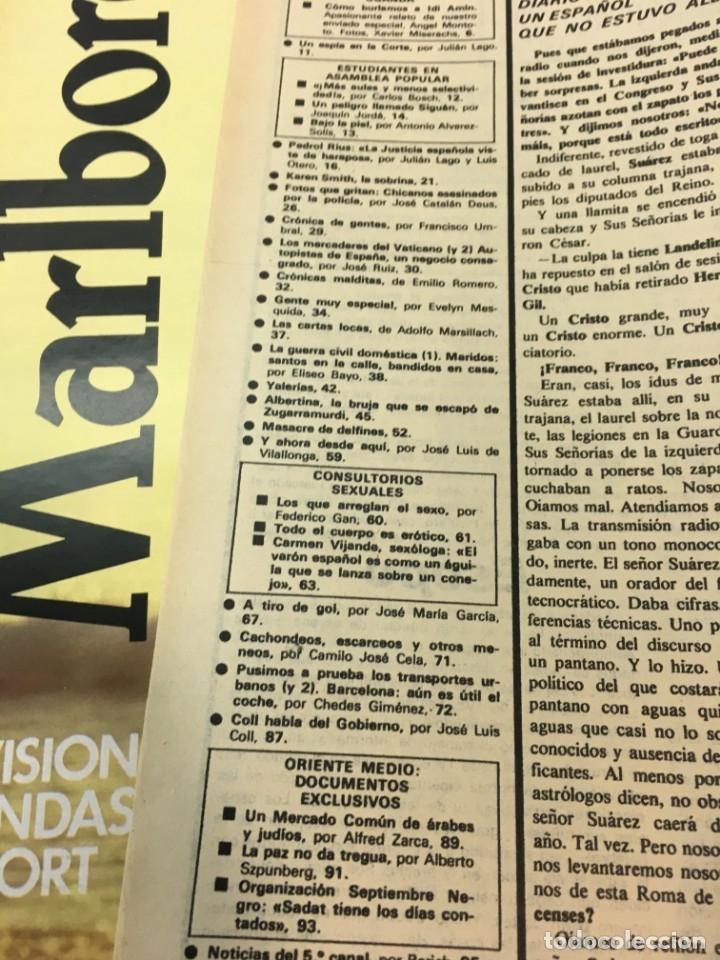 Coleccionismo de Revista Interviú: Revista Interviú número 151 año 4 ,Karent Smith 1979, años 70.Publicidad años 70 - Foto 4 - 176314323