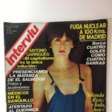 Coleccionismo de Revista Interviú: REVISTA INTERVIÚ NÚMERO 158 AÑO 4 ,YOLANDA RIOS 1979, AÑOS 70.PUBLICIDAD AÑOS 70. Lote 176508248