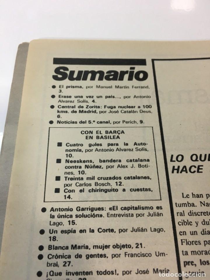 Coleccionismo de Revista Interviú: Revista Interviú número 158 año 4 ,Yolanda Rios 1979, años 70.Publicidad años 70 - Foto 3 - 176508248