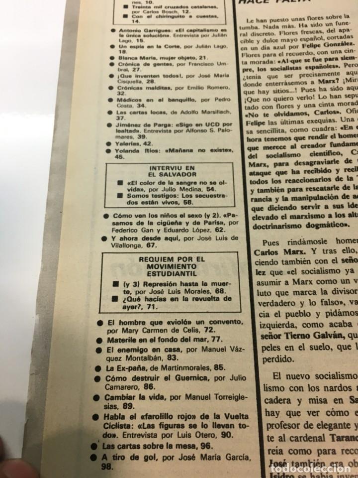 Coleccionismo de Revista Interviú: Revista Interviú número 158 año 4 ,Yolanda Rios 1979, años 70.Publicidad años 70 - Foto 4 - 176508248