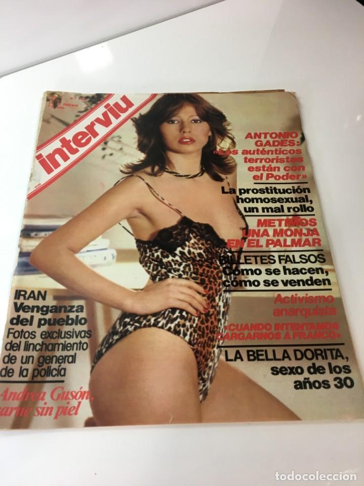 REVISTA INTERVIÚ NÚMERO 144 AÑO 4 ,ANDREA GUSON 1979, AÑOS 70.PUBLICIDAD AÑOS 70 (Coleccionismo - Revistas y Periódicos Modernos (a partir de 1.940) - Revista Interviú)