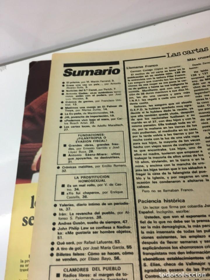 Coleccionismo de Revista Interviú: Revista Interviú número 144 año 4 ,Andrea Guson 1979, años 70.Publicidad años 70 - Foto 5 - 176508463
