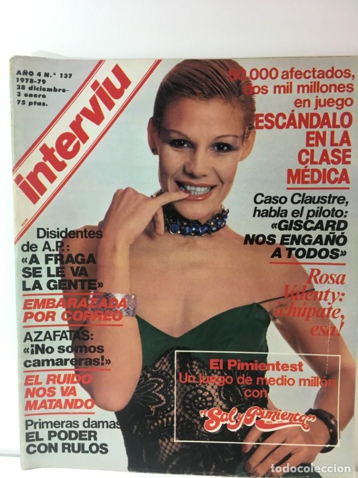 REVISTA INTERVIÚ NÚMERO 178 AÑO 4 ,ROSA VALENTY, ELEONORA FANI , 1979, AÑOS 70.PUBLICIDAD AÑOS 70 (Coleccionismo - Revistas y Periódicos Modernos (a partir de 1.940) - Revista Interviú)