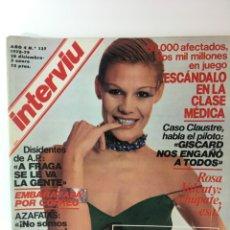 Coleccionismo de Revista Interviú: REVISTA INTERVIÚ NÚMERO 178 AÑO 4 ,ROSA VALENTY, ELEONORA FANI , 1979, AÑOS 70.PUBLICIDAD AÑOS 70. Lote 176518832