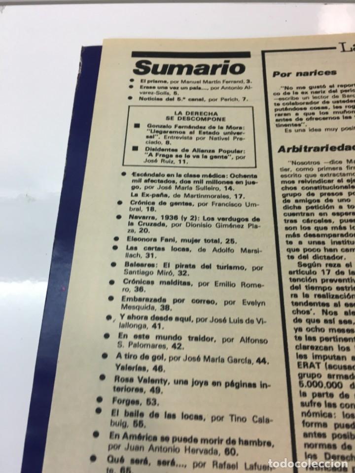 Coleccionismo de Revista Interviú: Revista Interviú número 178 año 4 ,Rosa Valenty, Eleonora Fani , 1979, años 70.Publicidad años 70 - Foto 4 - 176518832